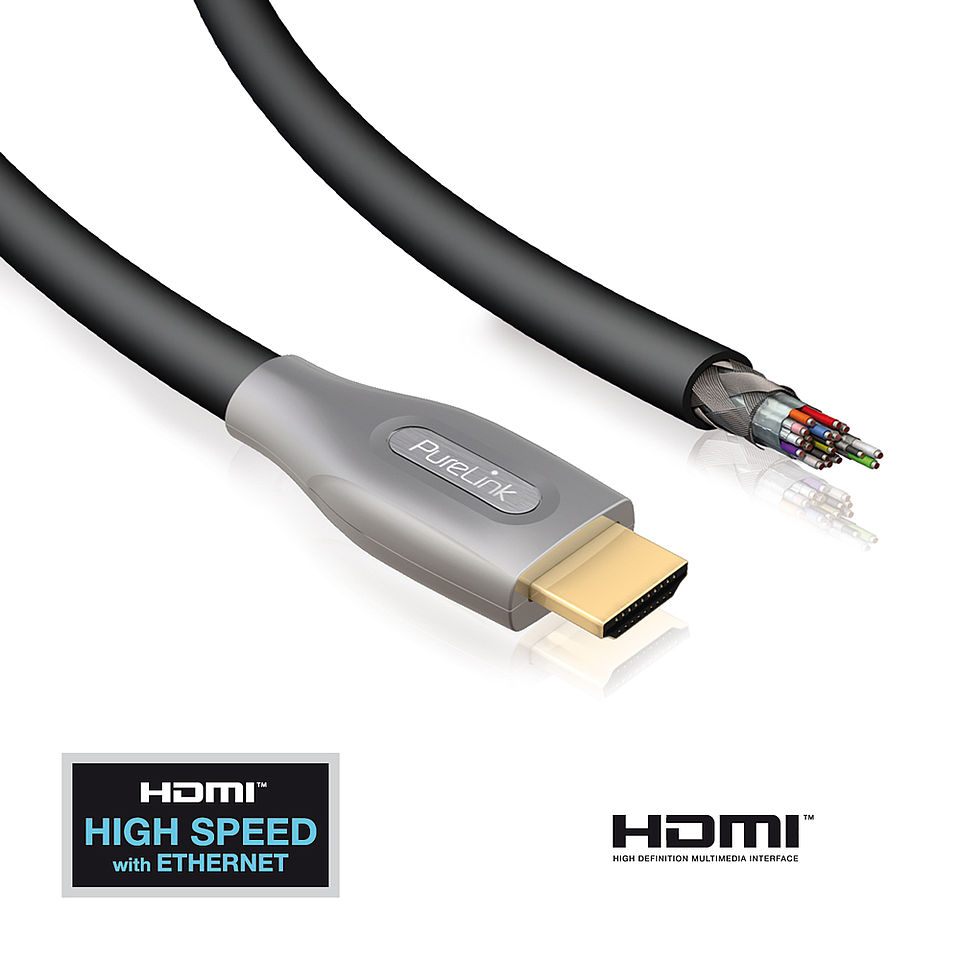 ID-PS2000 - High Speed HDMI Kabel mit Ethernet 3D Abbildung