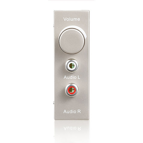 ID-WP-MOD-AU Anschlussblende Stereo Audio + Vol.