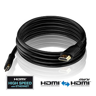 PI1200 - High Speed Mini HDMI Kabel mit Ethernet Kanal
