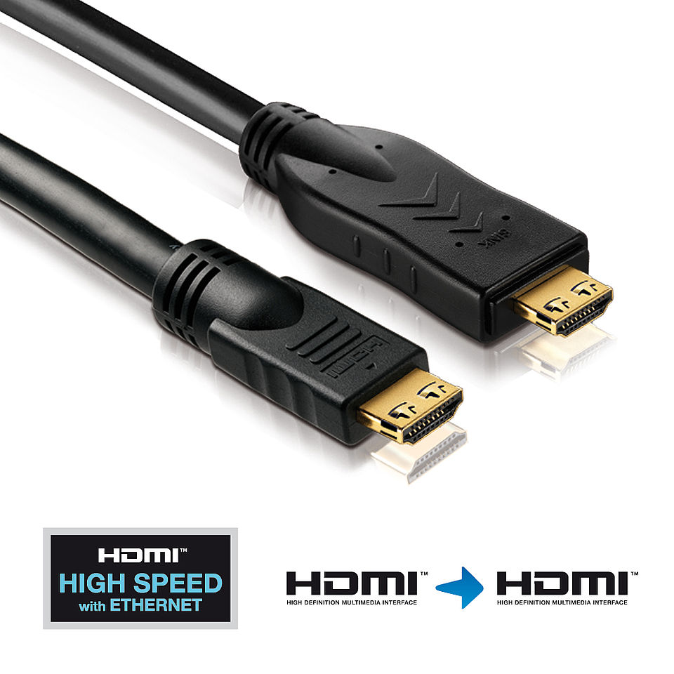 PI2000 - Aktives High Speed HDMI Kabel mit Ethernet Kanal und APO