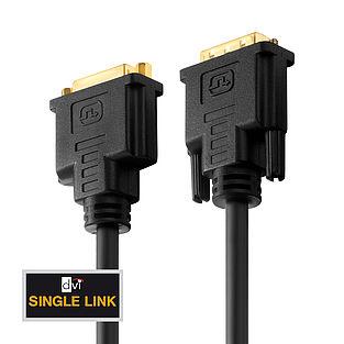 Das PureInstall PI4100 DVI Single Link Verlängerungskabel für HDTV Auflösungen bis WUXGA und FullHD