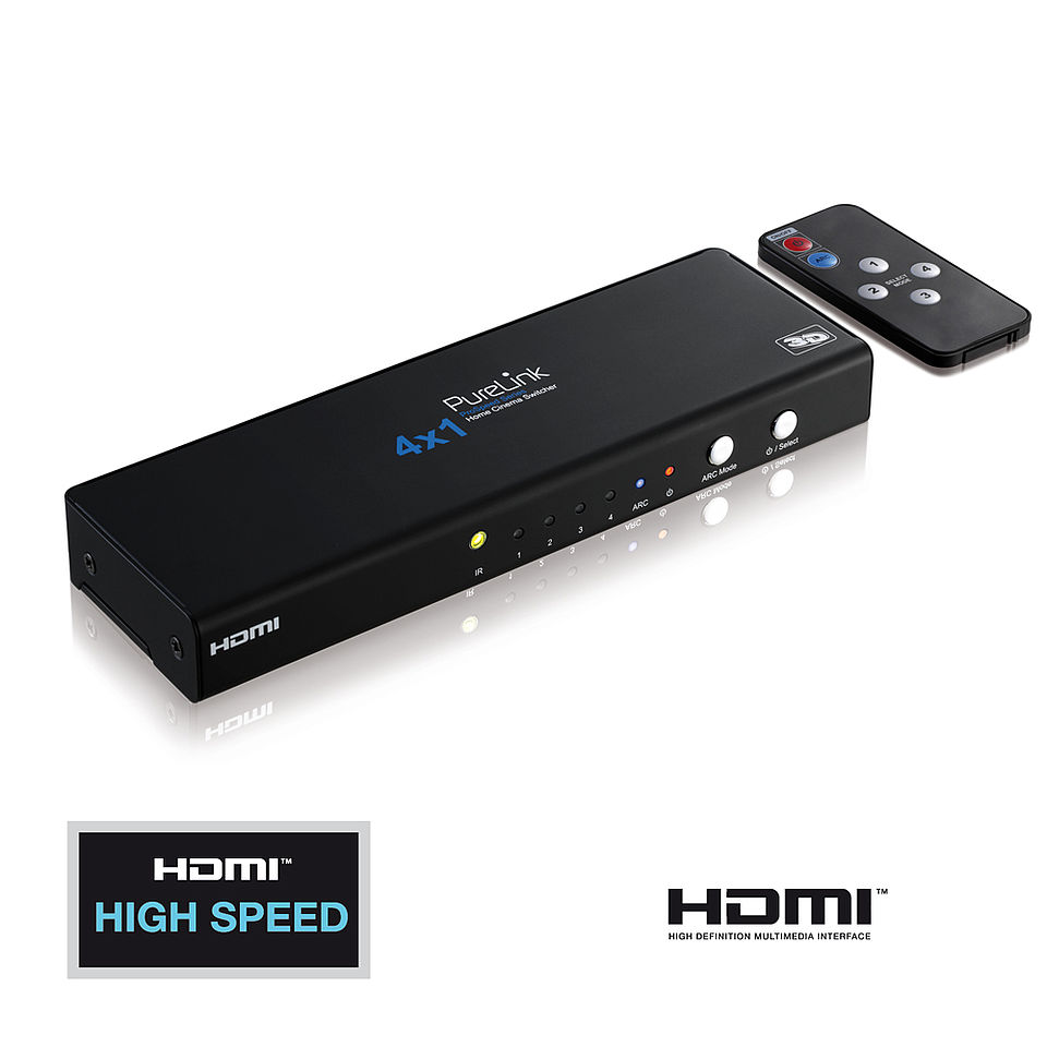 Der ProSpeed PS410: Home Cinema Videoumschalter 4x1