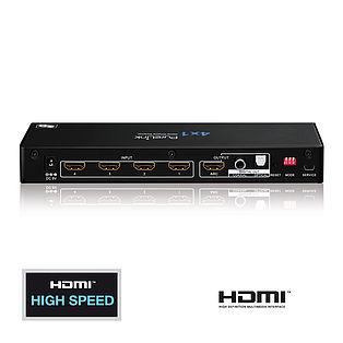 Der ProSpeed PS410: Home Cinema Videoumschalter mit 4 HDMI Eingängenund 1 HDMI Ausgang