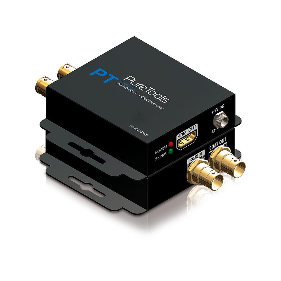 Der PureTools PT-C-SDIHD 3G/HD-SDI zu HDMI Konverter
