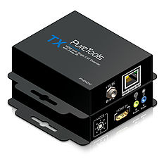 Das PureTools PT-E-HD10 HDMI/IR/Cat.X Set mit regulierbarem Signalverstärker