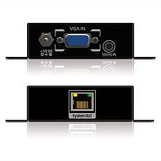 Das PureTools PT-E-VG20 VGA/Cat.X Extender Set mit Stereo Audio Unterstützung durch 3,5mm Klinkenanschluss