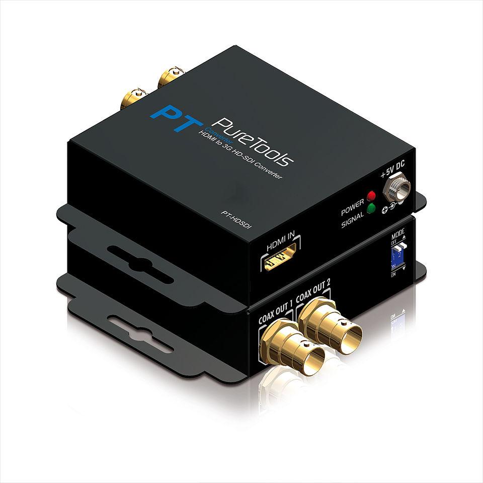 Der PureTools PT-C-HDSDI HDMI zu 3G/HD-SDI Konverter