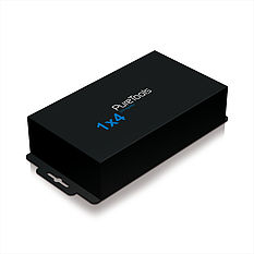 Der PureTools PT-SP-DV14 DVI 1x4 Splitter mit HDMI Unterstützung inkl. 3D, Deep Color und HDTV Auflösungen bis 1080p