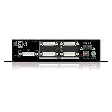 Der PureTools PT-SP-DV14 DVI 1x4 Splitter mit digital 7.1 Audio Unterstützung