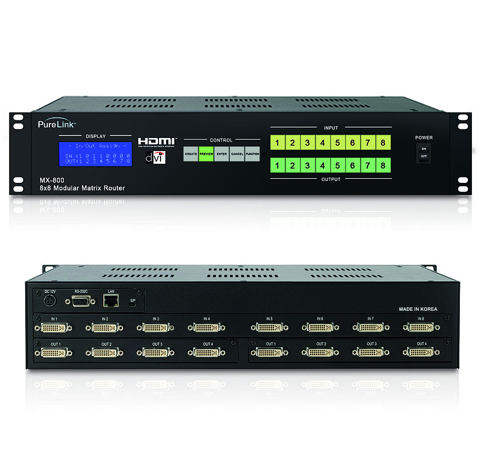 PRO-MX-800: DVI 8x8 Matrix Umschalter