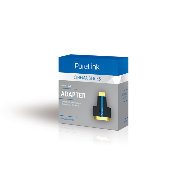CS020 - DVI-D Buchse zu HDMI-A Stecker Adapter Verpackung