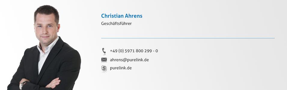 Geschäftsführer Christian Ahrens