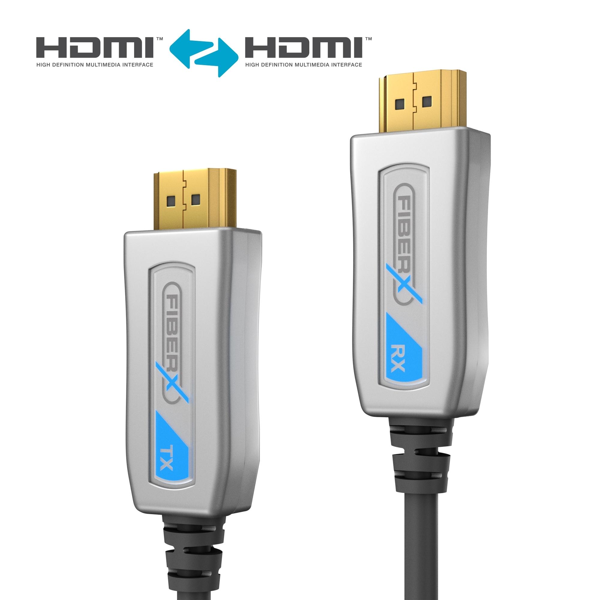 Gallery Retail Kabel HDMI 1 3 15m Source · FiberX Series Active HDMI 4K Fiber Extender Cable Integrated 15m PureLink English